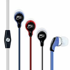 MEElectronics RX12P In-Ear Tangle-Free Powerful Bass Headphones with Microphone