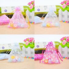 50PCs Organza Gift Bags Jewelry Pouches Patterned Wedding Party Favor M2202