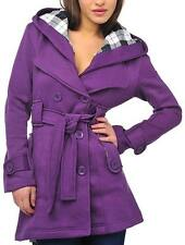 Ladies Hooded Casual Belted Winter Coat Warm Sizes Womens 8 10 12 14