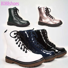 Soda Low Heel Round Toe Lace Up Military Combat Boot Shoes NEW All Size 5.5 - 10
