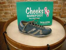 Tony Little Cheeks Denim Suede & Mesh Barefoot Trainer Shoes NEW