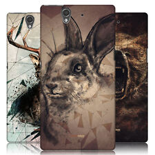 HEAD CASE POLY SKETCH PROTECTIVE SNAP-ON BACK CASE COVER FOR SONY XPERIA Z C6603