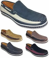 Men Brixton New Leather Driving Casual Shoes Moccasins Slip On Loafers Dacio06