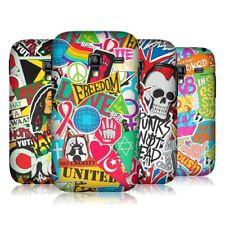 HEAD CASE STICKER HAPPY HARD BACK CASE COVER FOR SAMSUNG GALAXY ACE PLUS S7500