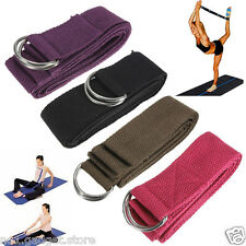 D-Ring Yoga Belt Strap - Yoga Equipment Exercise Fitness Relaxation Sports