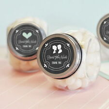 24 Personalized Custom Chalkboard Wedding Candy Jars Party Favors