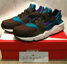 NIKE HUARACHE LE Size? Only TEAL PACK US UK 7 8 9 10 11 Black Purple 318429-263