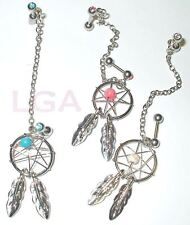 DREAMCATCHER Jewelled Stud earring *FREE AUSSIE POST* Helix Cartilage Dangle