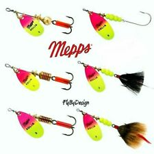 Mepps Aglia Hot PINK / Chartreuse Blade Spinner Fishing Lure - Choice of Size