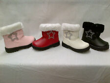 Infant GirlsPrincess Warm Winter Zip Ankle Boot, 4 Colours, Sizes 3-7, Kaka2