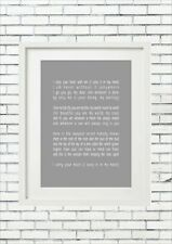 E E Cummings I Carry Your Heart Poem Wedding Engagement Word Wall Art Valentine