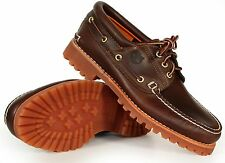 Timberland Men's Shoes 3-Eye Classic Lug 30003 Brown Pull-Up New Authentic