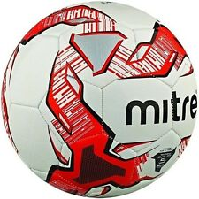 Mitre Impel Training Football Ball in Sizes 3 & 4 & 5 White/Red
