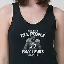 Guns Don't Kill People Ray Lewis Does T-shirt jersey NFL Ravens Adult Tank Top