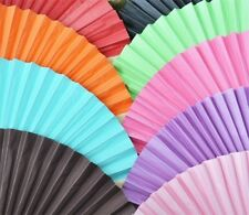 30 Beach Party Summer Wedding Decoration Favors Colored Paper Hand Fans Favors