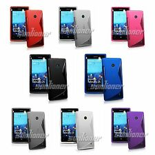 Gel TPU Rubber Silicone Skin Cover Case with S-Line for Nokia Lumia 525