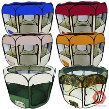 2-Door Round Pet Play Pen Puppy Kennel Small Animal Dog Cat Cage Portable Crate
