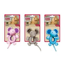 Kong Braidz for Cat or Kitten Mouse Character with Catnip in Blue Gray or Pink