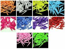 100 Pcs Acrylic Spike Dagger Pendants / Charms Many Colours 22mm Jewellery - ML