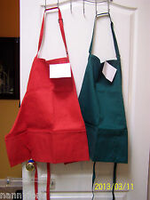 ADULT APRON PERSONALIZED W/ NAME/INITIAL DENIM or GREEN NEW