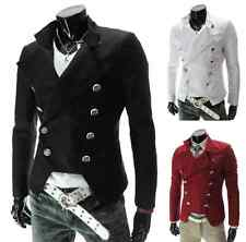 Sexy Mens Stylish Casual Business Designed Blazer Double-breasted Suit Jacket #4