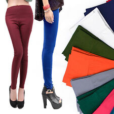 Trendy Skinny Slim Candy Color Stretch High Waist Pencil Pants Leggings