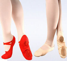 New Cute Pink Canvas Ballet Dance Fitness Shoes Toddler Girls Child Size 23-40