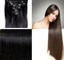 Full Head SALON FINEST HAIR EXTENTIONS 18 CLIPS IN Girls favored Hot style US ss