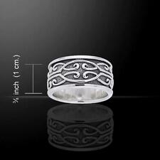 Celtic Spiral Ring TRI670 Size Selectable