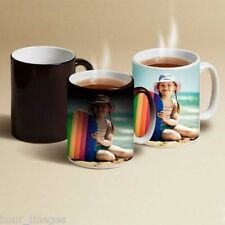 Personalised Colour Changing Magic & Various Other Types of Mugs Any Image Text