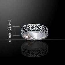 Celtic Silver Spiral Ring TR405 Size Selectable