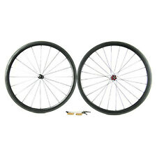 Carbon Fiber Road Bike Wheelset 38mm 3K Tubular Rim Shimano/Sram 9/10/11 Speed