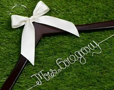 One line Wire Name Wedding Hanger Personalized Bridal Bridesmaid wedding hanger