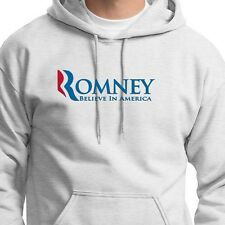 ROMNEY Believe In America 2012 Election Tshirt Republican Vote Hoodie Sweatshirt