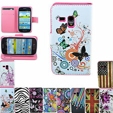 Stand Flip Wallet Leather Cover Hard Case For Samsung Galaxy S3 SIII Mini i8190