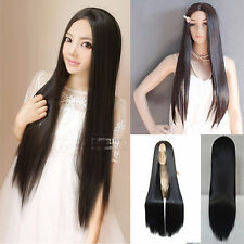 New Charming Full Long Straight Hair Wigs Cosplay Costume Party Wig No Bang