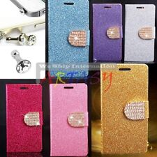 Glitter Wallet Case W/ Rhinestone FOR SAMSUNG GALAXY S4 I9500 W/ FREE Dust Plug