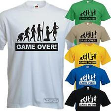 GAME OVER FUNNY MENS STAG HEN DO GROOM BRIDE WEDDING T-SHIRT BACHELOR PARTY