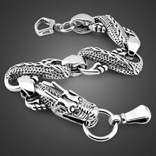 Solid Sterling Silver Thai Silver Dragon Chain Super Men's Bracelet B165