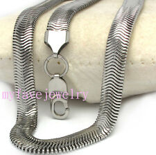 Mens Unisex High Quality STAINLESS STEEL SMOOTH Flat SNAKE Chain Necklace