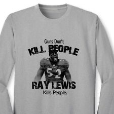 Guns Don't Kill People Ray Lewis Does Ravens T-shirt Jersey NFL Long Sleeve Tee