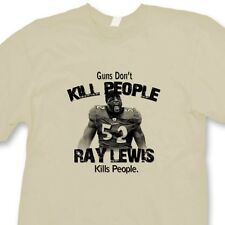 Guns Don't Kill People Ray Lewis Does Ravens T-shirt Jersey NFL Tee Shirt