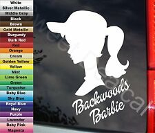 "Backwoods Barbie Country Redneck Girl 6"" VINYL STICKER DECAL Mud Truck Colors +"