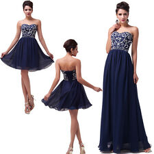 Multistyle Navy Blue Chiffon Bridesmaid Homecoming Pageant Sleeveless Chic Dress