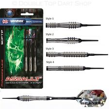 Winmau Assault 90% Tungsten Soft Tip Darts - Excellent Grip and Control