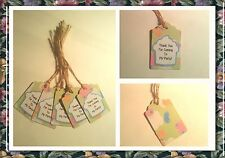 Cute Butterfly Tags for Party Bags - Thank You For Coming To My Party!