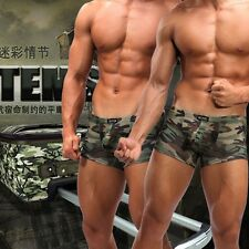 Mens Underwear Camouflage Army Bikinis Boxers Briefs Bulge Pouch Shorts CD4009