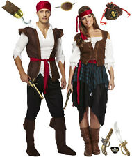 Pirate Caribbean Man or Wench Fancy Dress and Accessories U00
