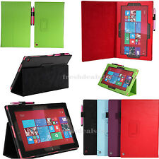 Premium Leather Flip Wallet Case Cover for Nokia X Phone + Screen