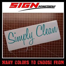 Simply Clean sticker decal *Multiple colors & Sizes*